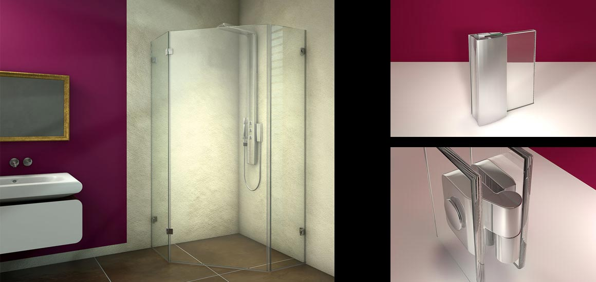Falterer-Serie Duschabtrennungen von Glasart Michael Dräxl