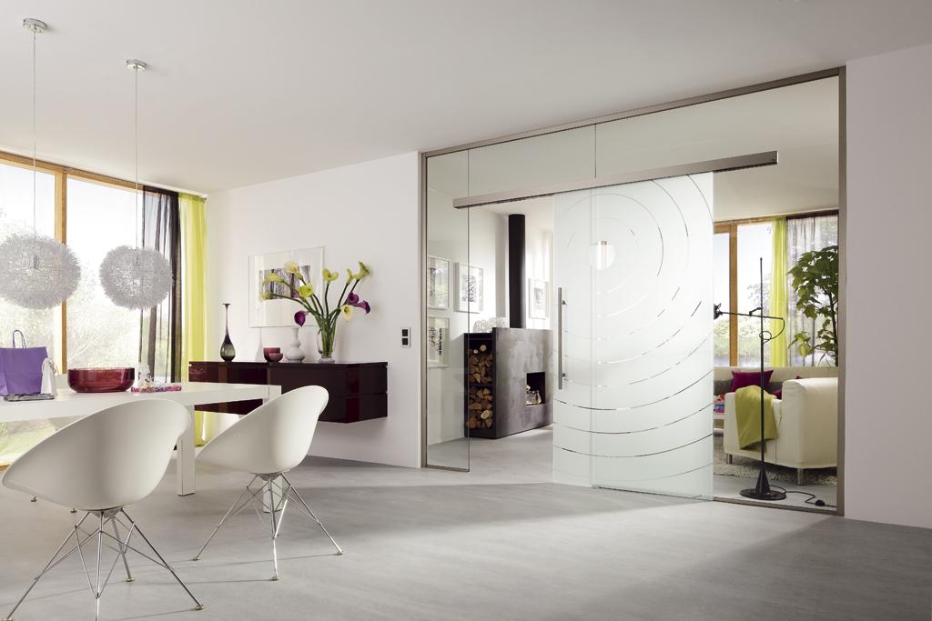 Wohnglas serien leben wohnen mit glas glasart for Glasschiebetür küche